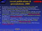 recent publications presentations 2008