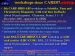 workshops since care071