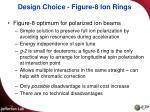 design choice figure 8 ion rings