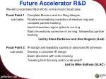 future accelerator r d