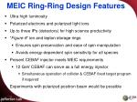 meic ring ring design features