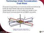 technology under consideration crab waist