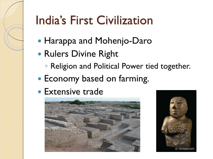 India s first civilization