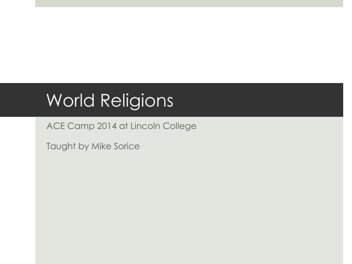 world religions n.