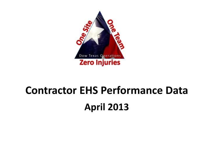 contractor ehs performance data n.