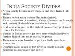 india society divides