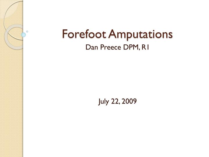 forefoot amputations n.
