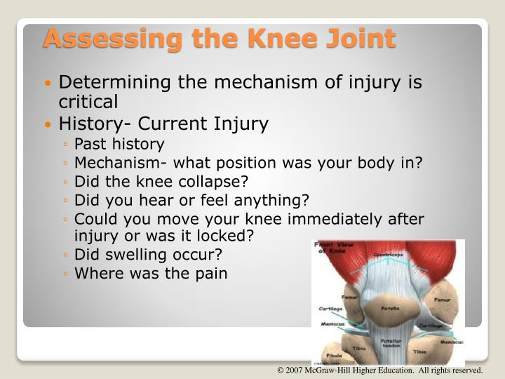 Determining the mechanism of injury is critical