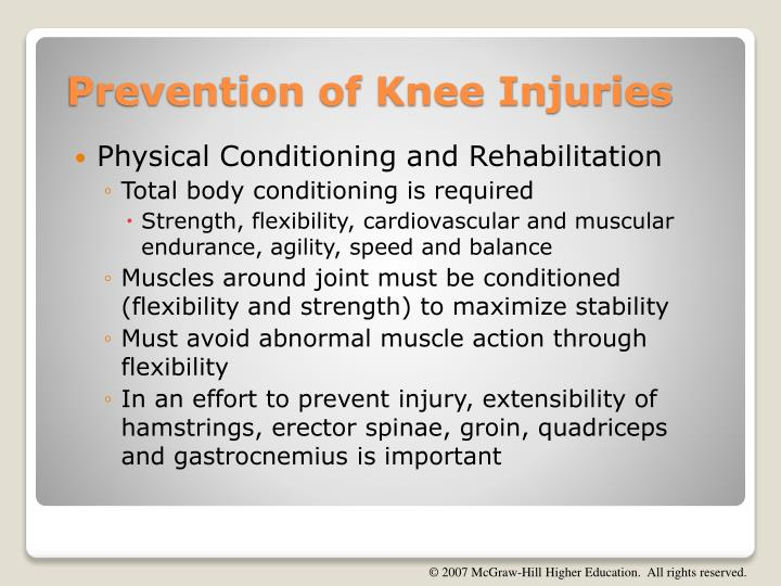 Physical Conditioning and Rehabilitation