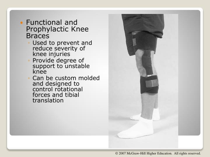 Functional and Prophylactic Knee Braces