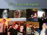 3 rd fiona browne