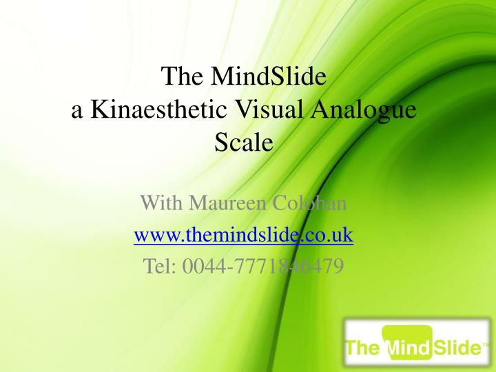 the mindslide a kinaesthetic visual analogue scale n.