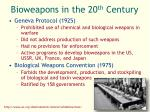 bioweapons in the 20 th century