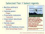 selected tier 1 select agents