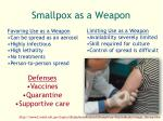 smallpox as a weapon