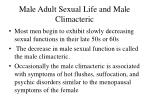 male adult sexual life and male climacteric