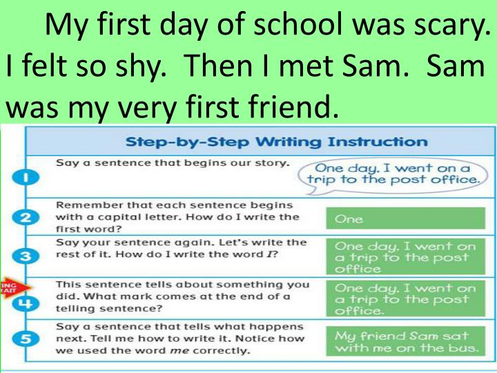My first day of school was scary.
