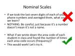 nominal scales