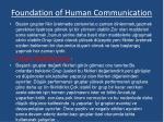 foundation of human communication11