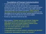 foundation of human communication14