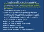 foundation of human communication15