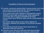 foundation of human communication4