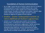 foundation of human communication6