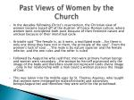 past views of women by the church