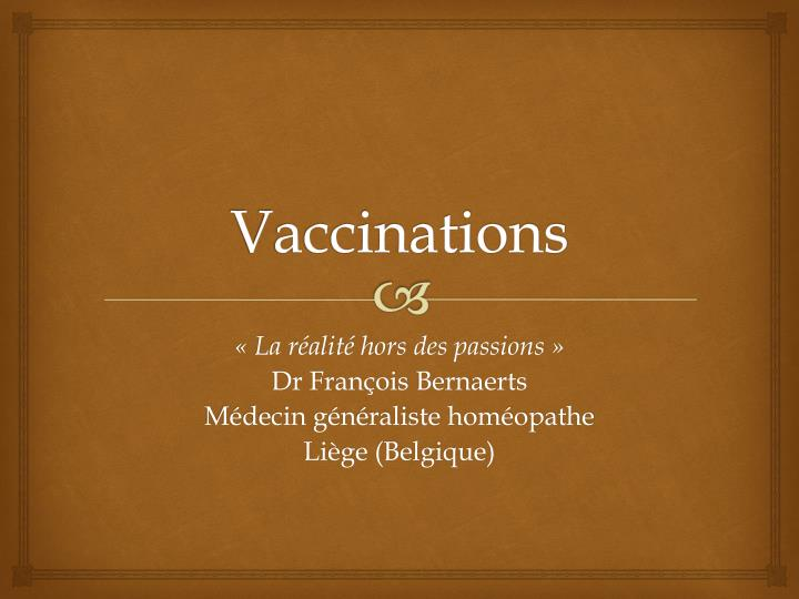 vaccinations n.