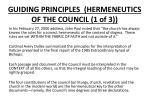 guiding principles hermeneutics of the council 1 of 3