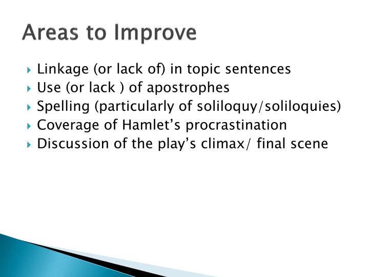 hamlet procrastination This procrastination shows hamlet's capabilities for intellectual reason, even in a situation involving extreme emotions however, this decision presents hamlet's final opportunity to seek substantial.