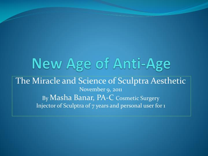 new age of anti age n.
