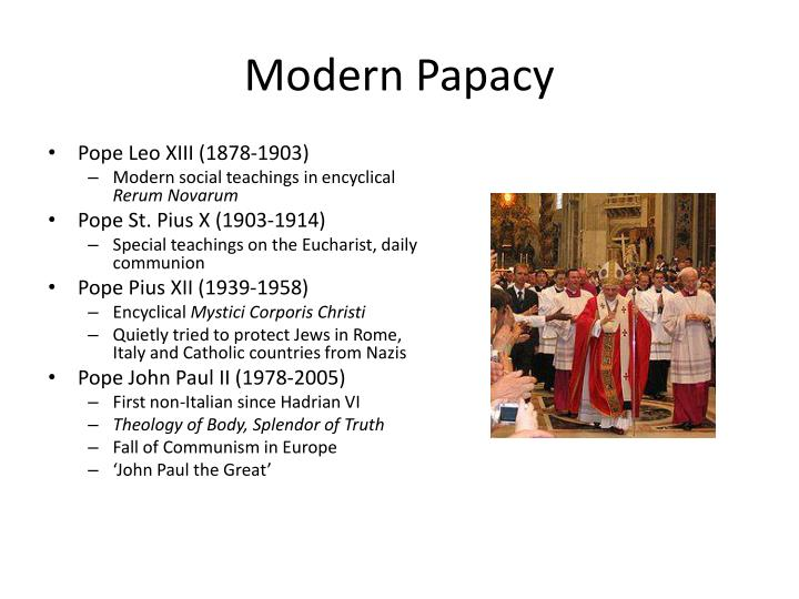 Modern Papacy