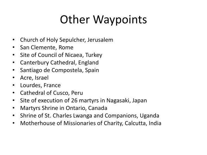 Other Waypoints