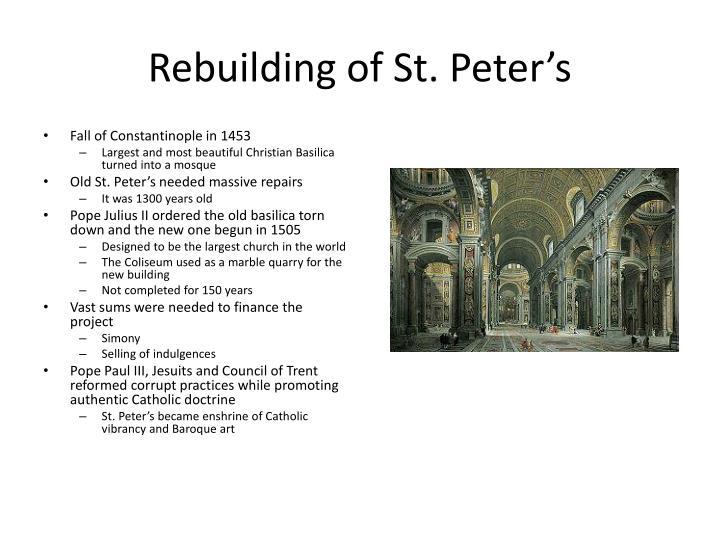 Rebuilding of St. Peter's
