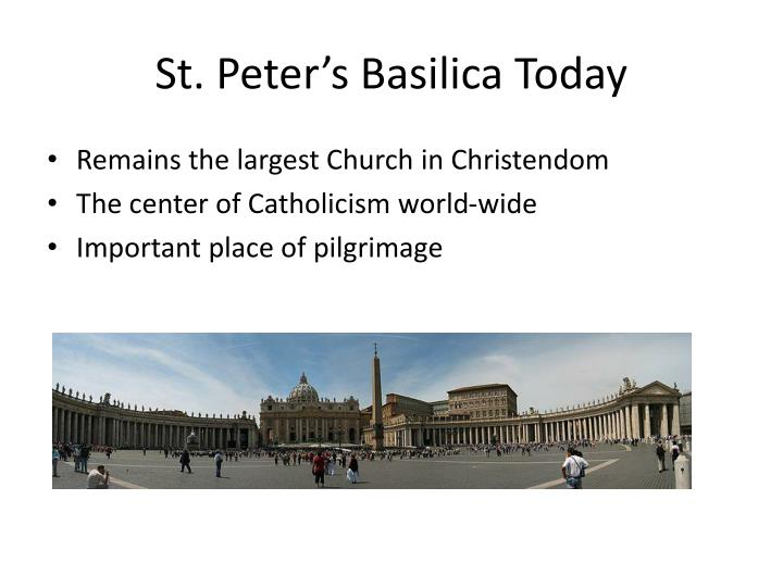 St. Peter's Basilica Today