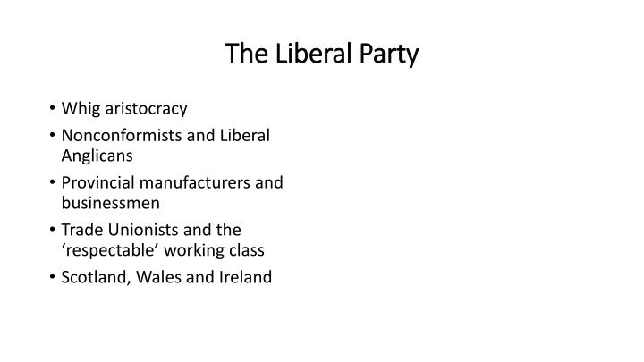 The Liberal Party
