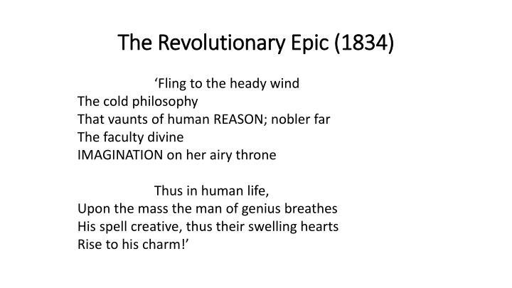 The Revolutionary Epic (1834)