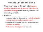 no child left behind part 2