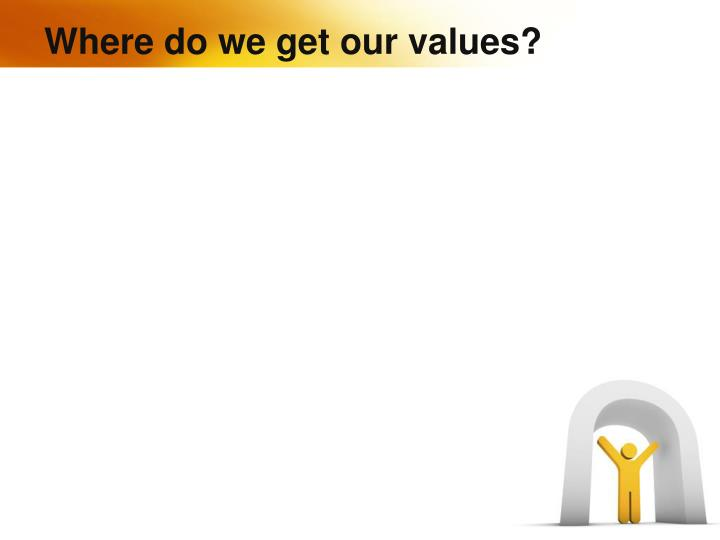 Where do we get our values?