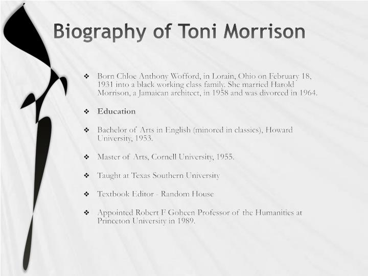 Biography of Toni Morrison