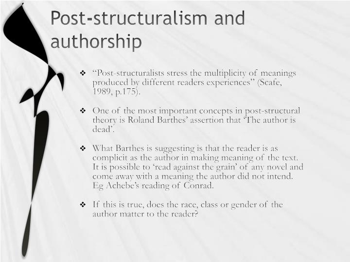 Post-structuralism and authorship