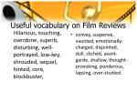 useful vocabulary on film reviews