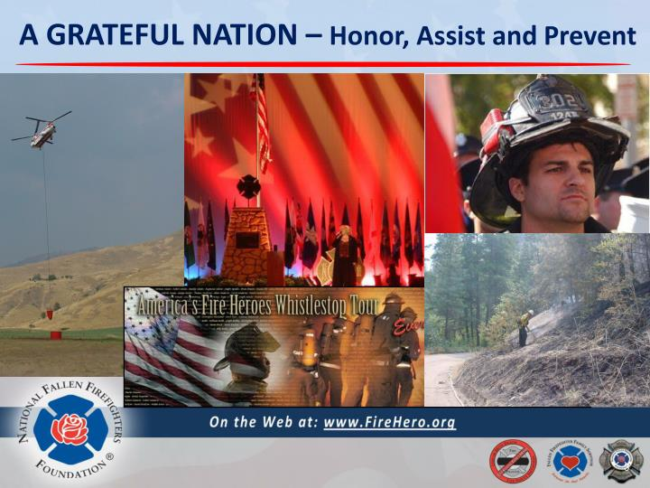 A grateful nation honor assist and prevent