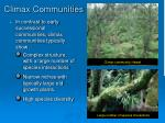 climax communities
