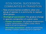 ecological succession communities in transition