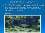 importation of species