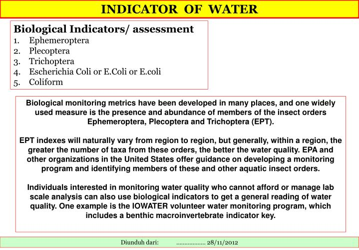 INDICATOR  OF  WATER