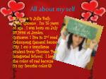all about my self