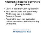 aftermarket catalytic converters background
